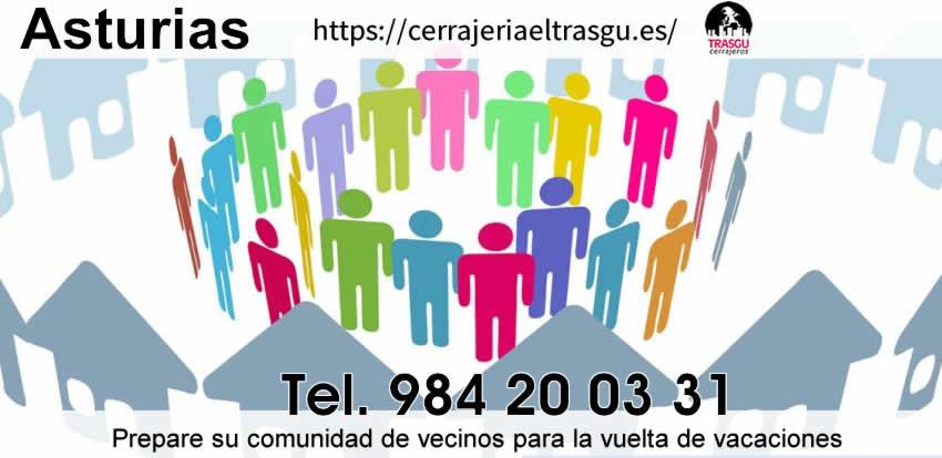 Prepare su comunidad de vecinos para la vuelta de vacaciones en asturias