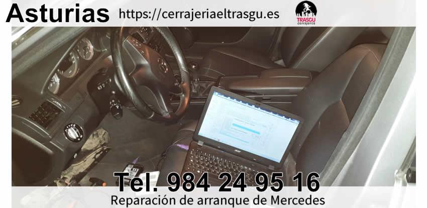 Reparación de avería arranque Mercedes Oviedo Gijon El Trasgu