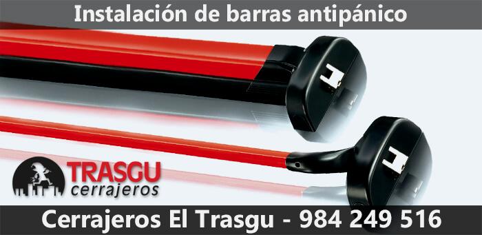 instalacion barra antipanico Gijón