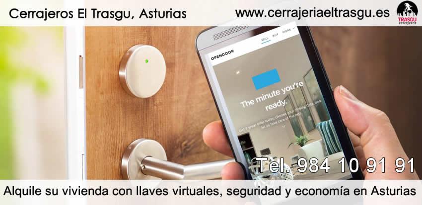 Alquile su vivienda con llaves virtuales, seguridad y economía en Asturias
