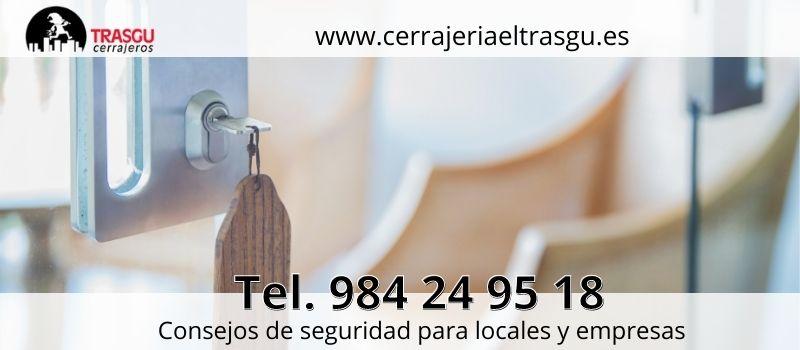 consejos de Cerrajería El Trasgu evitar robos en locales comerciales de Oviedo