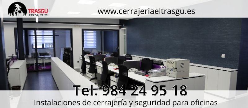 instalación cerrajería seguridad para oficinas en Cerrajería El Trasgu