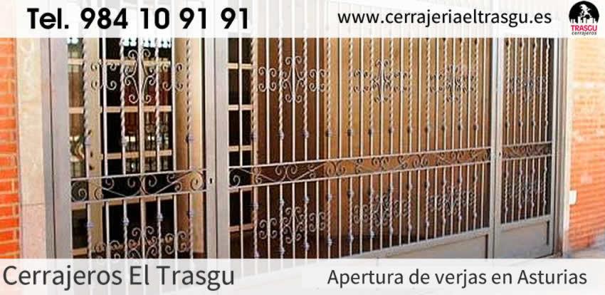 APERTURA de verjas con cerrajeros en Asturias